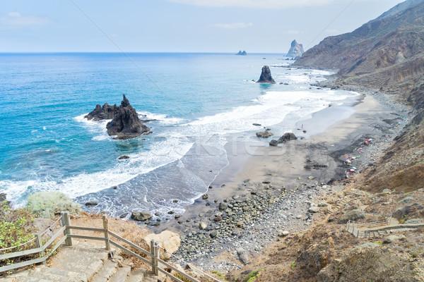 Praia tenerife ilha Espanha ver paisagem Foto stock © neirfy