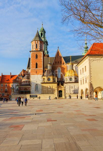 Hill Polska królewski bazylika katedry Zdjęcia stock © neirfy