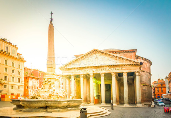Pantheon in Rome, Italy Stock photo © neirfy