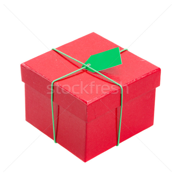 red gift box with tag Stock photo © neirfy