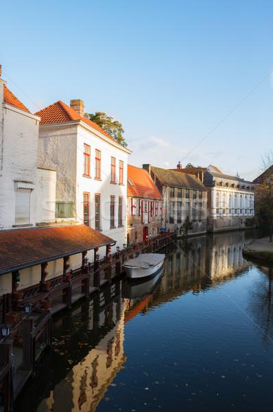Ulicy starówka kanał domu miasta świat Zdjęcia stock © neirfy