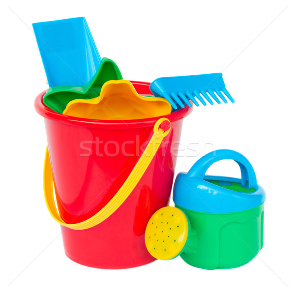 Beach bucket with spades Stock photo © neirfy