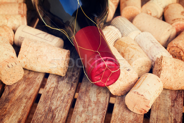 wine bottle and corks Stock photo © neirfy