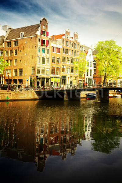 old town of  Amsterdam Stock photo © neirfy