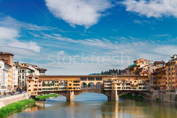 フィレンツェ イタリア 有名な 橋 川 曇った ストックフォト © neirfy