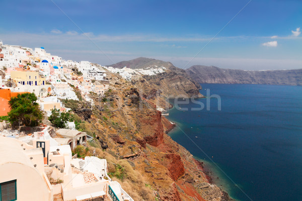 Oia, traditional greek village and Aegan sea, Greece Stock photo © neirfy