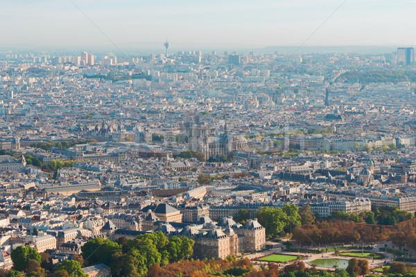 ストックフォト: 表示 · パリ · ノートルダム大聖堂 · フランス · 空 · 春