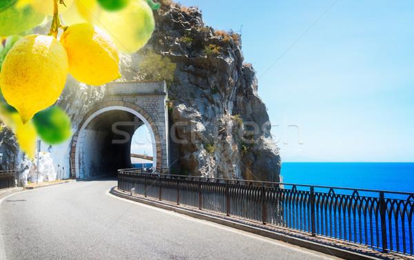 road of Amalfi coast, Italy Stock photo © neirfy