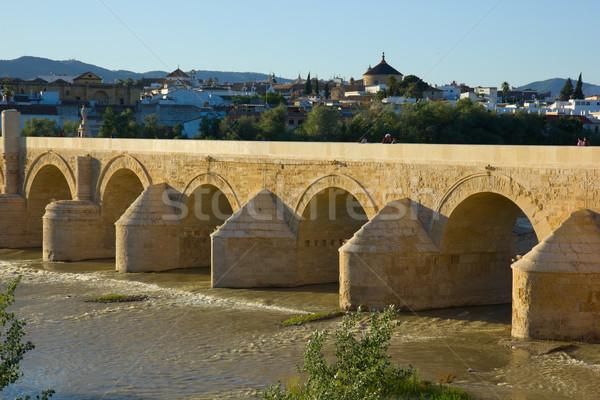 Roman bridge of Cordoba, Spain Stock photo © neirfy