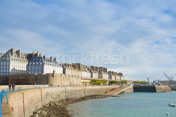 coast line in old town, Saint Malo, Brittany, France Stock photo © neirfy