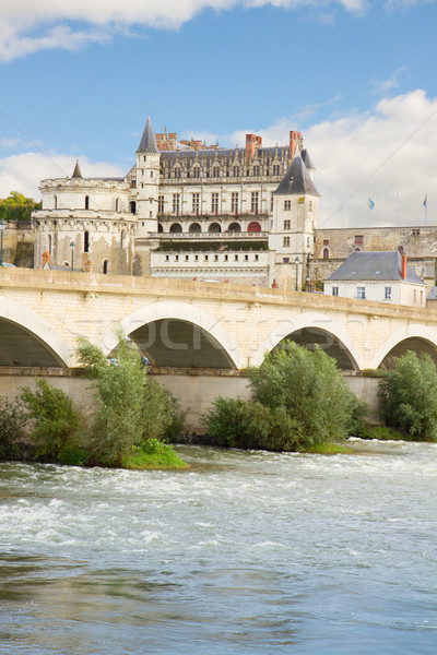 Amboise castle and old bridge, France Stock photo © neirfy