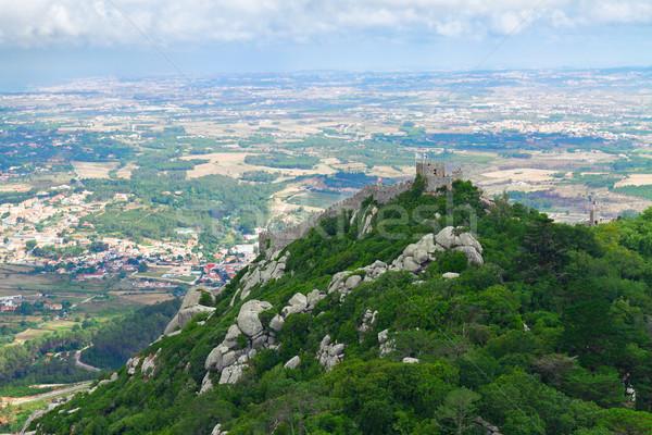 Moorish castle, Sintra, Portugal Stock photo © neirfy