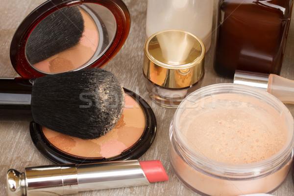 фундаментальный макияж продукции помада Сток-фото © neirfy