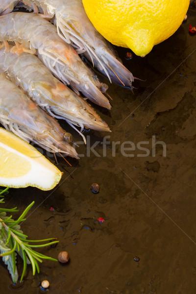 raw prawns Stock photo © neirfy