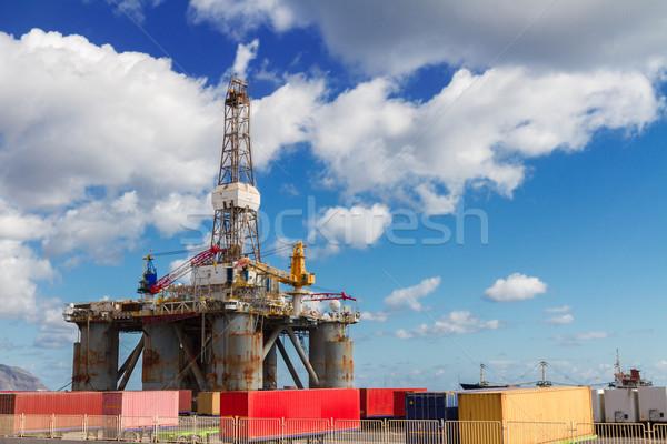 порта один нефть бизнеса Сток-фото © neirfy
