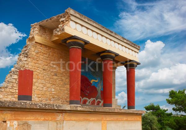 Stock fotó: Palota · Görögország · részlet · ősi · épület · fal