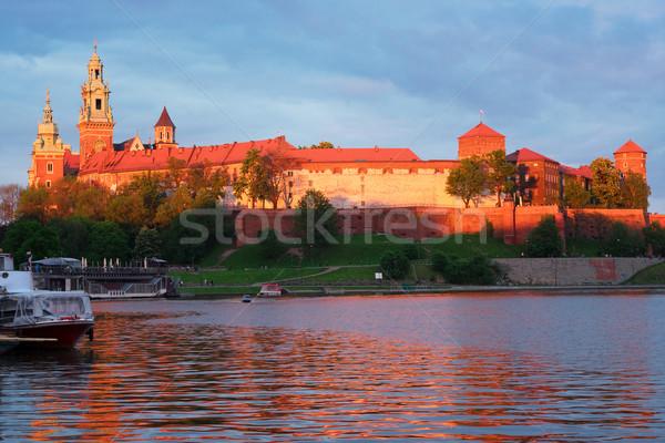 丘 クラクフ ポーランド 城 ピンク 光 ストックフォト © neirfy