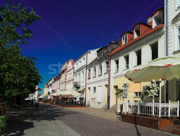 Warschau straat oude binnenstad stad kerk stedelijke Stockfoto © neirfy