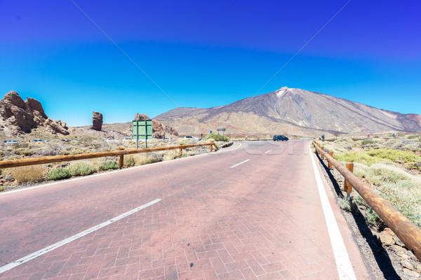 empty mountain road Stock photo © neirfy