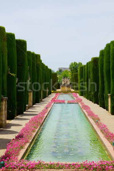 Gardens at the Alcazar of Cordoba, Spain Stock photo © neirfy
