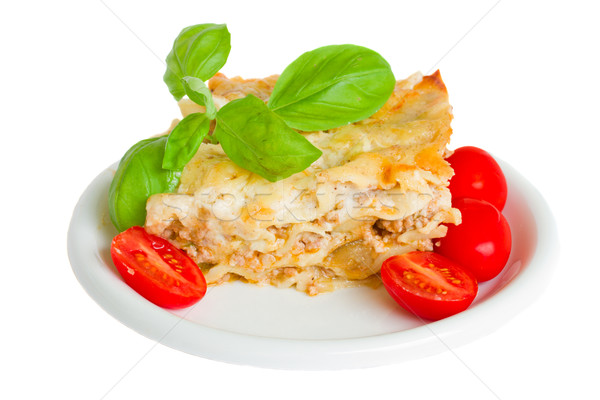 Cross section of lasagna Stock photo © neirfy