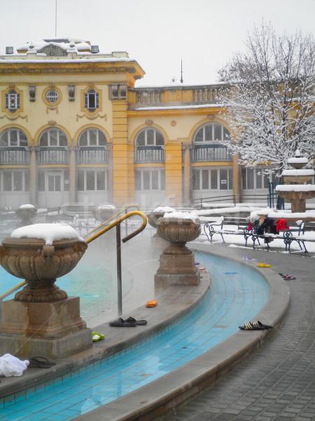Stok fotoğraf: Banyo · Budapeşte · kış · gün · Macaristan · masaj