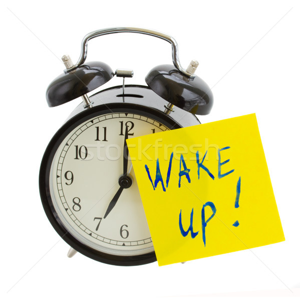 alarm clock with wake up! note Stock photo © neirfy