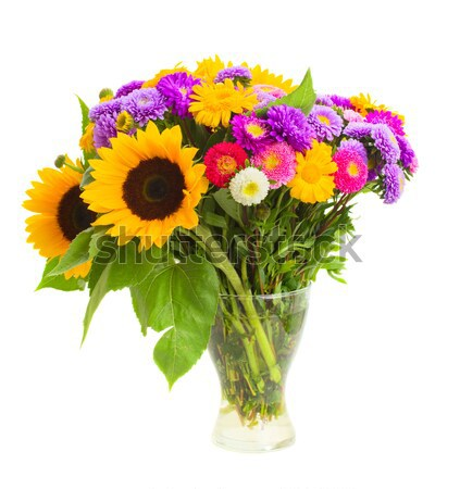 colorful posy  of fall flowers Stock photo © neirfy