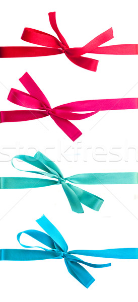 Stock photo: set of   ribbons with bows
