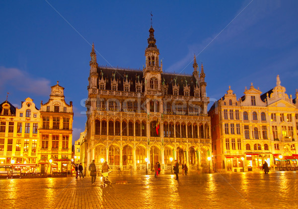 Roi Bruxelas noite Bélgica céu cidade Foto stock © neirfy