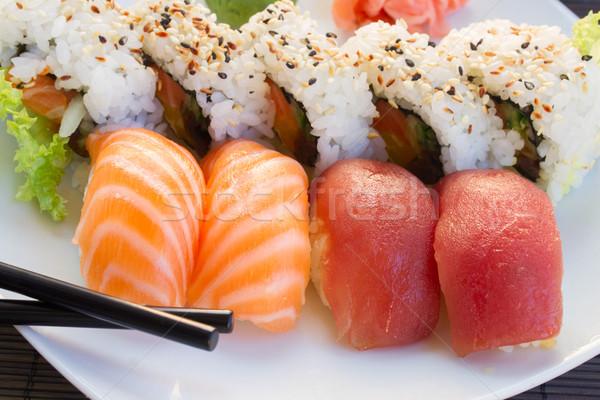 ランチ 寿司 皿 食品 魚 ストックフォト © neirfy