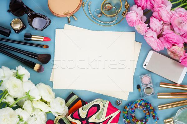 styled feminine desktop Stock photo © neirfy