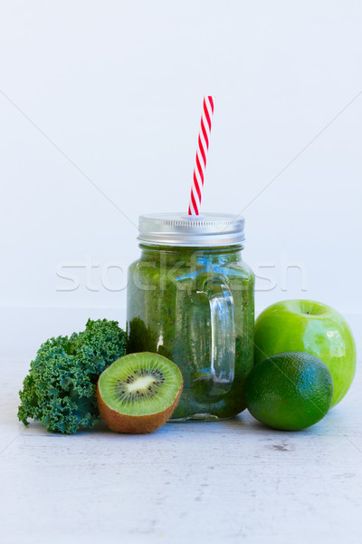 Fresh green smoothy drink Stock photo © neirfy