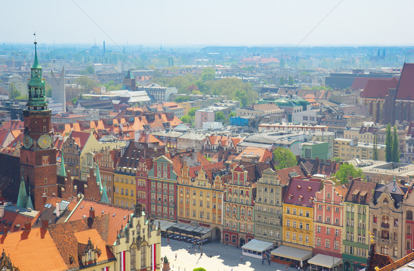 old town market square , Wroclaw Stock photo © neirfy