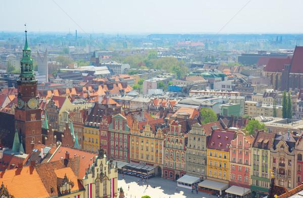 Barrio antiguo mercado cuadrados edificio ciudad Foto stock © neirfy