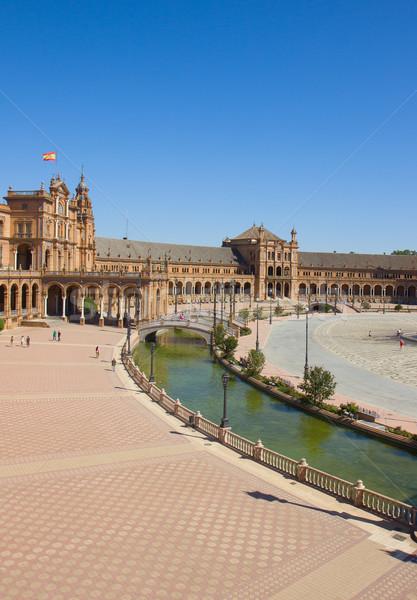 表示 広場 スペイン アンダルシア 市 橋 ストックフォト © neirfy