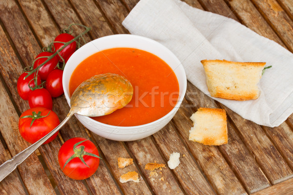 Gazpacho with tomatoes Stock photo © neirfy
