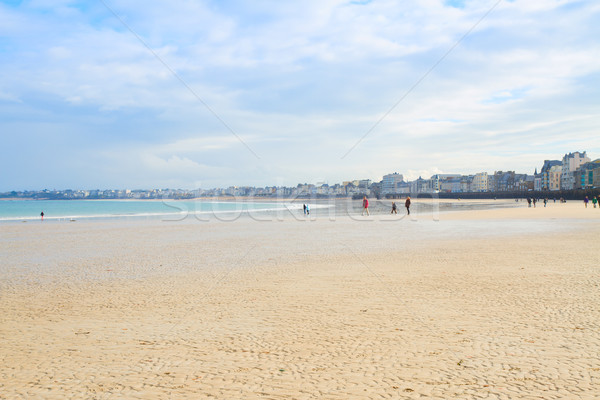 beach of Saint-Malo, Brittany, France Stock photo © neirfy