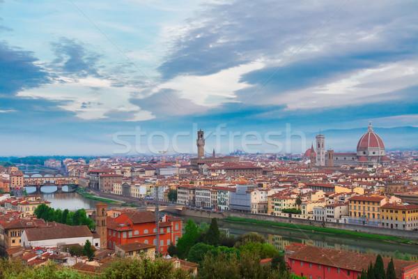 Floransa İtalya Cityscape üzerinde şehir Stok fotoğraf © neirfy