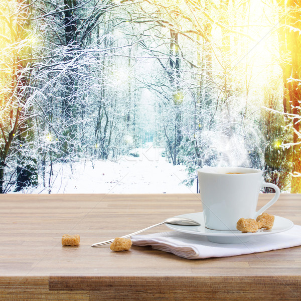 coffee cup at winter Stock photo © neirfy