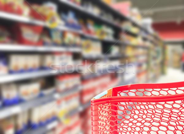 supermarket blured background Stock photo © neirfy