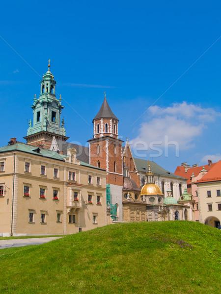 roal castle at Wawel hill, Krakow, Poland Stock photo © neirfy
