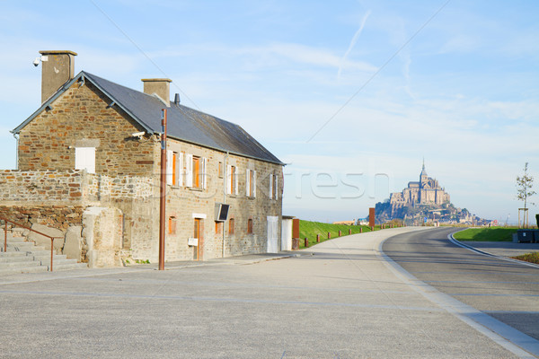 road to Mont Saint Michel Stock photo © neirfy
