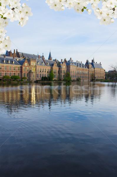 Nederlands parlement Nederland voorjaar dag Stockfoto © neirfy