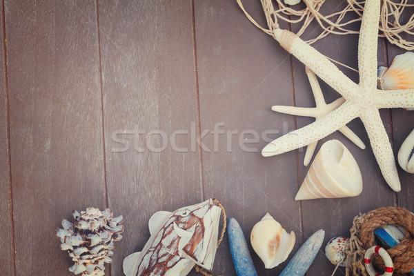 Starfish mer obus bois Photo stock © neirfy