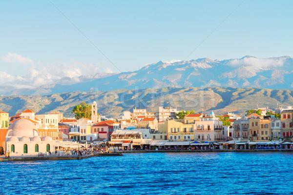 Venetian Grecia cer apă constructii Imagine de stoc © neirfy