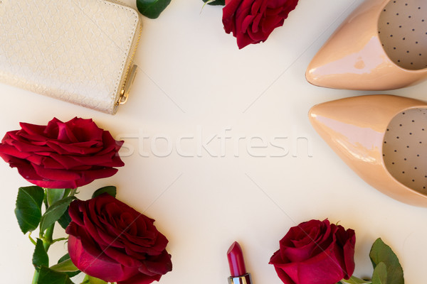 Nude colored high heels still life Stock photo © neirfy