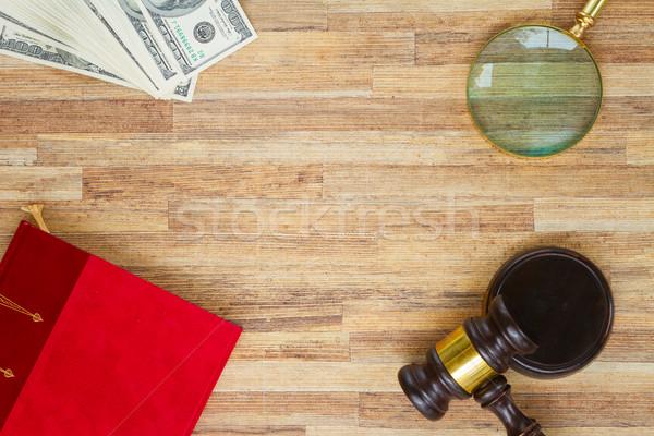 Ley martillo jurídica libro Foto stock © neirfy