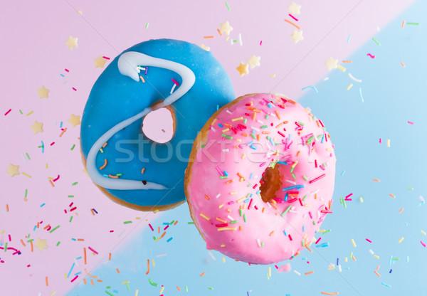 Stock fotó: Repülés · kék · kettő · édes · rózsaszín · buli