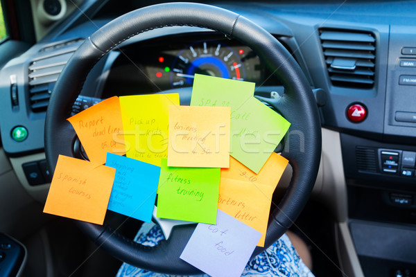 To do list in a car Stock photo © neirfy
